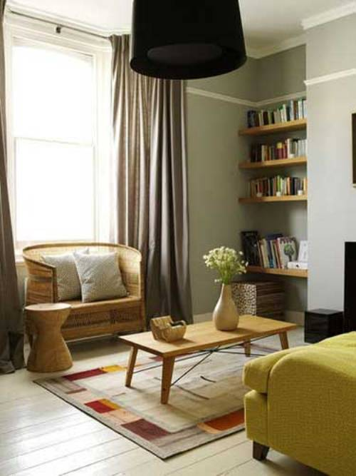 Dari Gambar Diatas Sebuah Pemanfaatan Sudut Ruang Tamu Yang Telah Ditata Dengan Perlengkapan Kayu Disusun Untuk Menata Buku