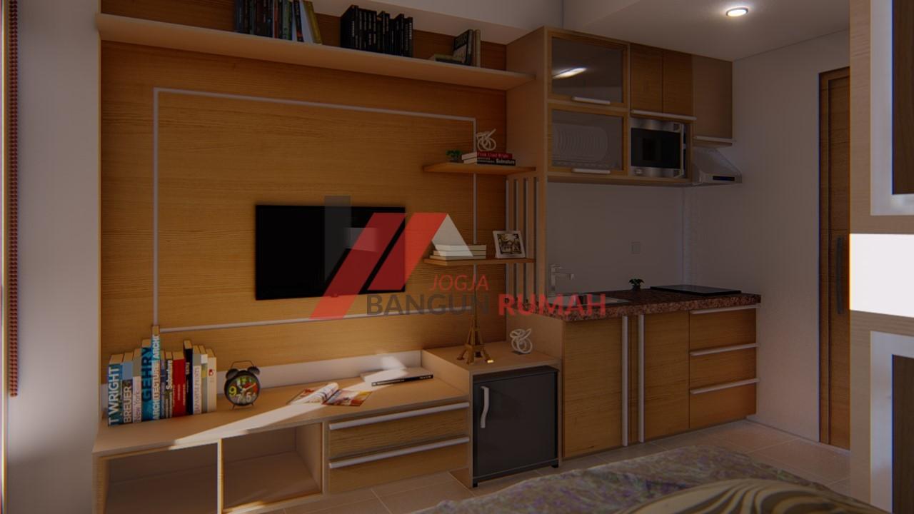 view 3 interior apartemen